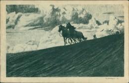 AK Pferde Ziehen Pflug (32004) - Chevaux