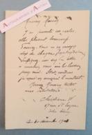 L.A.S Christiane Née Bastion Compagne Peintre Adolphe WILLETTE - L'Isle Adam - Messien - Lettre Autographe - Autographes