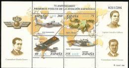 2001-ED. 3790 H.B.-1ERS.VUELOS DE LA AVIACION ESPAÑOLA-NUEVO - Blocs & Hojas