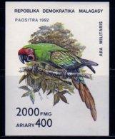 Madagascar 1992 Perroquet / Ara Militaris / Oiseau / Bird / Parrot Bloc N° 82 Neuf état - Madagascar (1960-...)