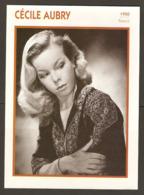 PORTRAIT DE STAR 1950 FRANCE - ACTRICE CÉCILE AUBRY - ACTRESS CINEMA FILM PHOTO - Fotos