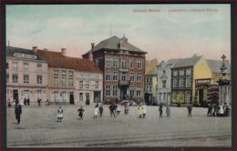 Postkaart Van Aarschot - Aerschot //  - Groote Markt - Grand Place (animee) Frankering RIJKSWAPEN ; Staat Zie 2 Scans ! - Aarschot