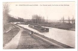Péniches à Châtillon Sur Loire (45 - Loiret)  Le Canal Neuf - Houseboats