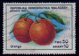 Madagascar 1992 Fruit Orange N° 1054 Oblitéré Used - Madagascar (1960-...)