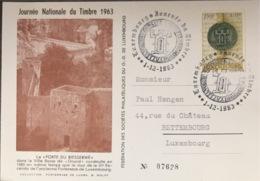 Luxembourg Journée Nationale Du Timbre 1963. - Cartes Commémoratives