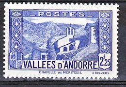 Andorre  84 Chapelle  Neuf ** TB Mnh Sin Charnela Cote 20 - Andorre Français