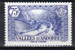 Andorre  70 Pont Médiéval  Neuf ** TB Mnh Sin Charnela Cote 10 - Andorre Français