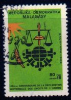 Madagascar 1988 DUDH Déclaration Universelle Droits De L'homme N° 894 Oblitéré Used - Madagascar (1960-...)