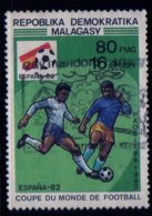 Madagascar 1982 Coupe Du Monde De Football Espagne / Football Worldcup Spain / N° 674 Oblitéré Used - Madagaskar (1960-...)