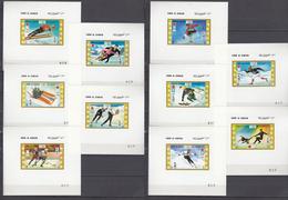 Umm Al-Qiwain 21.06.1971 Mi # 454-63 Einzelblocks Sapporo Winter Olympics (I) MNH OG - Winter 1972: Sapporo