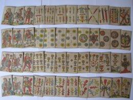 Jeu D'aluette (ou Jeu De Vache) Très Rare Et Complet 48 Cartes Aux Enseignes Espagnoles - Oud Speelgoed