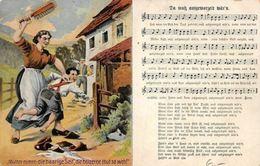 "Comic Humour Music Song ""Mutter Nimm Die Haarige Seit"" Postcard - Autres"