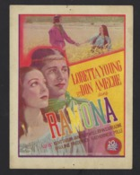 GENT * GAND * CINEMA  CASINO EN ROXY * RAMONA * AFFICHETTE * 1936 * 15 X 11 CM * 2 SCANS - Werbetrailer