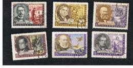 URSS - SG 2316.2322 - 1959   WRITERS  - USED° - Usados