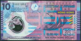 TWN - HONG KONG 401d - 10 Dollars 1.1.2014 Polymer - Prefix XA UNC - Hong Kong