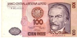 Peru P.132a  100 Intis 1985 Unc - Perú