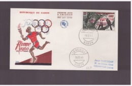 Gabon - 15 12 1960 Fdc Olimpiadi - Sommer 1960: Rom