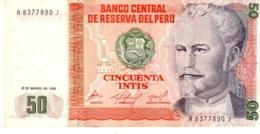 Peru P.131a 50 Intis 1986 Unc - Perú