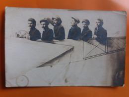 Carte Photo - Hommes Dans Avion ...photo Montage - Fotografia