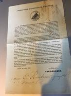 Assurances Sécuritas 1844 Défense Du Gérant Contre Diffamations - Documents Historiques