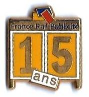 FILIALES - F493 - FRANCE RAIL PUBLICITE - 15 ANS - Verso : DECAT PARIS - TGV
