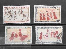 TIMBRE OBLITERE DU TCHAD DE 1968 N° MICHEL 213/16 - Tchad (1960-...)