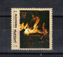 Manama   -  1972.  Rembrandt: Inumazione Di Cristo. Christ Entombment MNH - Rembrandt