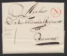 """Précurseur - LAC Datée De Antwerpen 20/05/1776 + Cachet Rond Rouge """"A"""" Vers Hamme. - 1714-1794 (Austrian Netherlands)"""