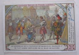 CHROMO LIEBIG S_ 0646 HISTOIRE DE FRANCE ROIS ET REINES : FRANÇOIS Ier SE FAIT ARMER CHEVALIER DE LA MAIN DE BAYARD - Liebig