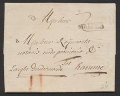Précurseur - LAC Datée De Mechelen 15/05/1775 + Obl Linéaire MALINES Et Port II à La Craie Rouge Vers Hamme. - 1714-1794 (Austrian Netherlands)