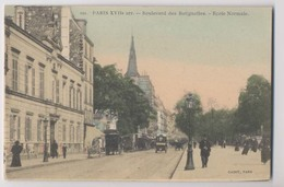 PARIS 17eme Arrondissement - Boulevard Des Batignolles - Ecole Normale - Colorisée - Animée - Arrondissement: 17