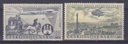 Tchécoslovaquie 1960 PA 49-50 ** Exposition Philatélique Bratislava Chevaux Avion Hélicoptère - Poste Aérienne