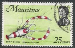 Mauritius. 1969 Sealife. 25c Used. SG 389 - Mauritius (1968-...)