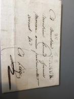 Lettre De Namur Griffe Noire Pour Liège 1815 - 1815-1830 (Dutch Period)