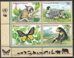 UNO-New York, 1998,  767/70, MNH **,  Gefährdete Arten (VI): Fauna. - New-York - Siège De L'ONU