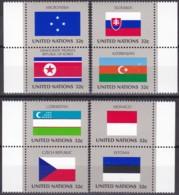 UNO-New York, 1998,  756/63  MNH **,   Flaggen Der UNO-Mitgliedstaaten (XII). - New-York - Siège De L'ONU