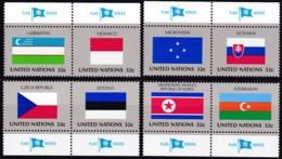 UNO-New York, 1998,  756/63  MNH **,   Flaggen Der UNO-Mitgliedstaaten (XII). - New York – UN Headquarters
