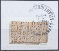 France - Impressions De Relief -  Marbre YT A656 Obl. Cachet Rond Manuel Sur Fragment - France