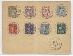 1919 - CONGRES DE LA PAIX à VERSAILLES - OBLITERATION TEMPORAIRE SUR ENVELOPPE - Marcofilia (sobres)