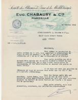 Marseille - Chabaury Et Cie - Société Des Blancs De Zinc De La Méditerranée - 1948 - Pont De Vivaux - 1900 – 1949