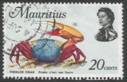 Mauritius. 1969 Sealife. 20c Used. SG 480 - Mauritius (1968-...)