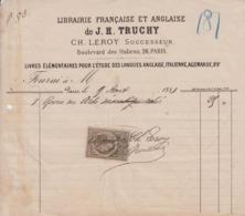 ** J. H. TRUCHY.- PARIS.- 1881.- LIBRAIRIE.-** - 1800 – 1899