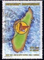 Madagascar 1997 Courrier Carte Poste Malgache N° 1514 Oblitéré Used - Madagascar (1960-...)