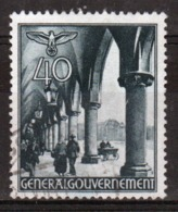 Poland German Occupation 40g Views Stamp From 1940. - General Government