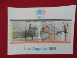 Planche De Timbres - Belgique - Jeux Olympiques - Los Angeles 1984 - Panes