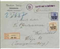 Oberbefehlshaber Ost - W.O.I. R-brief Van 11.5.17 Van GRODNO Naar Warschau Met Censuur B Van Bialystok - Allemagne