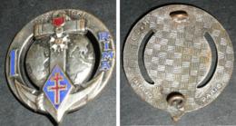 """Ancien Insigne émaillé, Militaire Militaria, Croix De Lorraine,  1 Er RIMA """"1822-1945"""" Ancre Marine Légion DRAGO H179 - Frankrijk"""