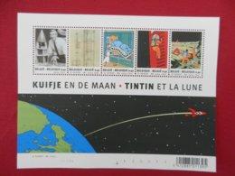 Planche De Timbres - Belgique -Tintin Et La Lune - Hergé - 2004 - Panes