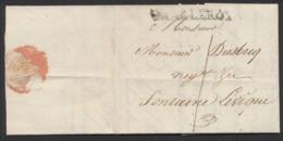 Précurseur - LAC Datée De Charleroy (1816) + Obl Linéaire Noir CHARLEROY (type 2) Vers Fontaine-l'évêque. - 1815-1830 (Holländische Periode)