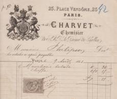 ** CHARVET.- PARIS.- 1881.- ** - 1800 – 1899